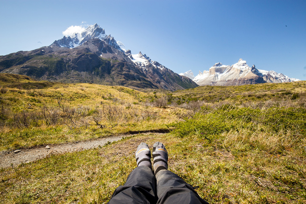 Wedding-Travellers-Overlanding-Destination-Wedding-Chile-Torres-del-Paine-Valle-Frances-Valley-French-snow-ice-mountain-glacial-smelly-hiking-socks