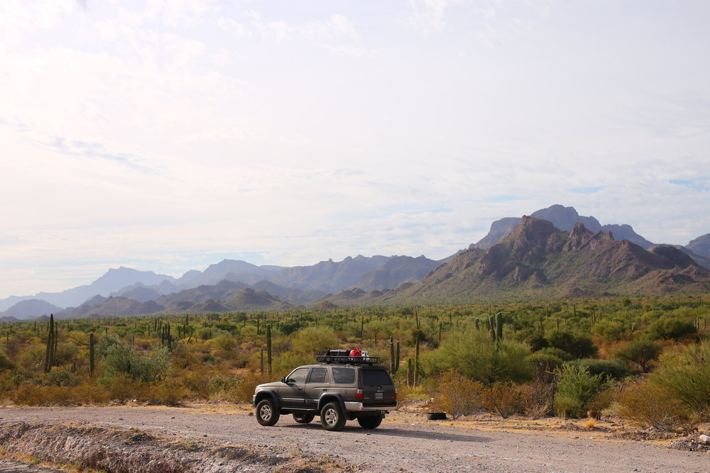 Helga in action - overlanding in Baja California.JPG