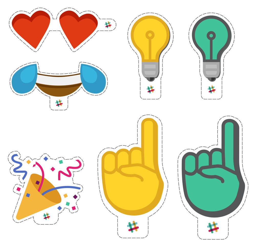 Emoji cutouts to mimick the video feature