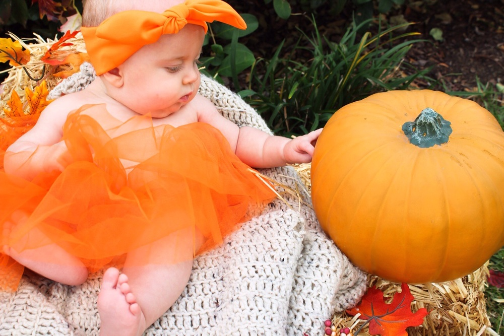 Baby L and her pumpkin