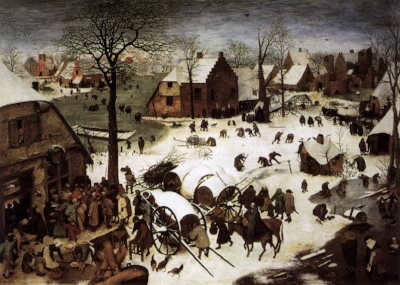 Census at Bethlehem by Bruegel the Elder