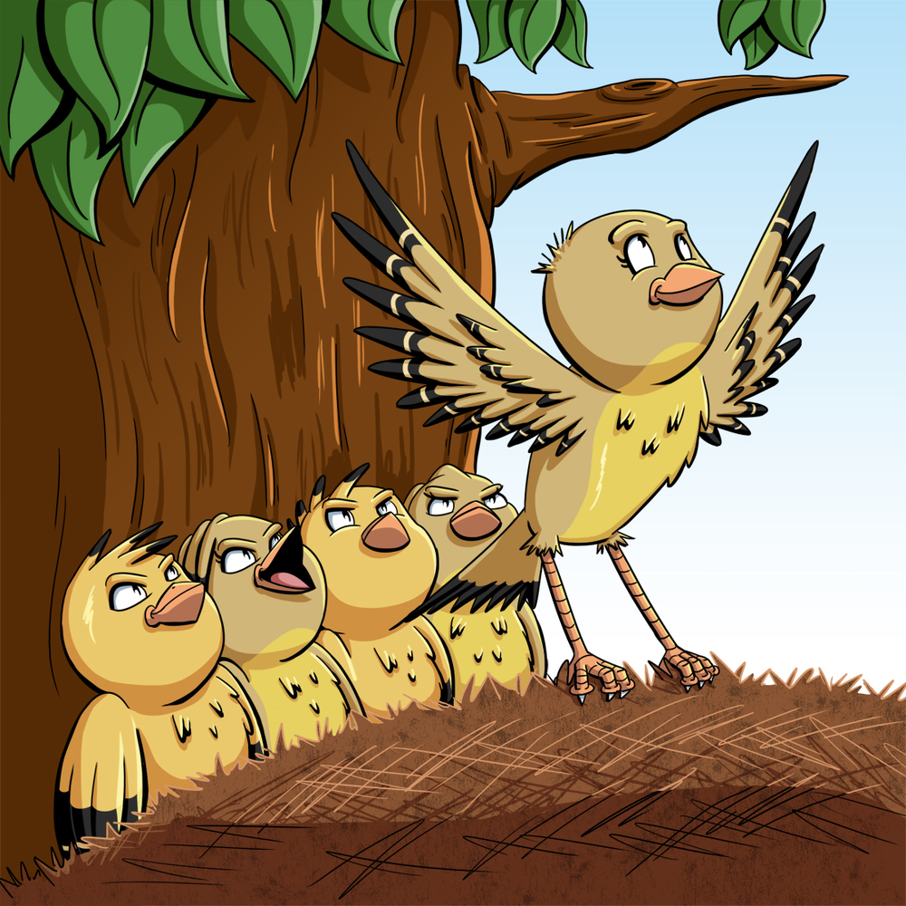 Little Goldie Finch Page