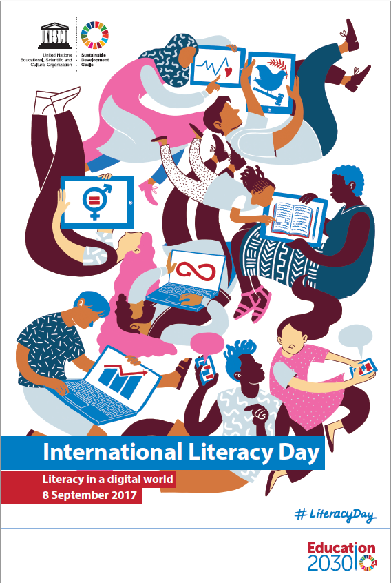 Affisch för International Literacy Day