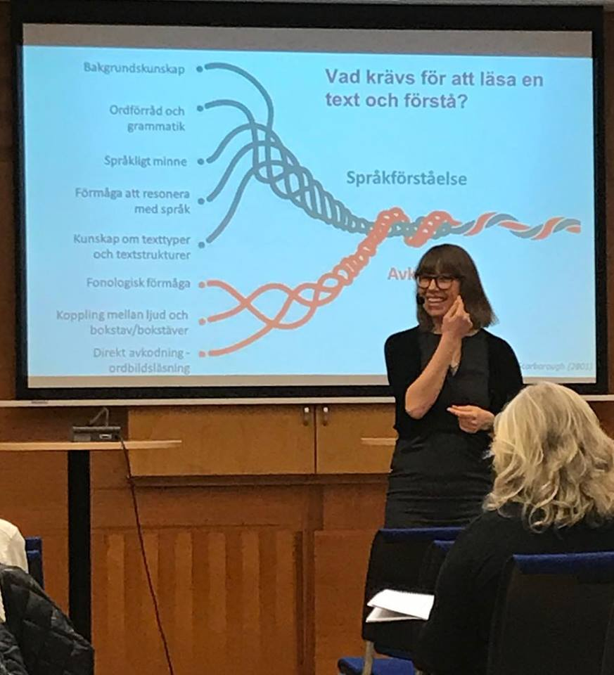 Språkstörning som inte hörs - vanligare i skolan än man tror! - Öppen föreläsning ordnad av Enheten för logopedi, Karolinska institutet. Mars 2019.