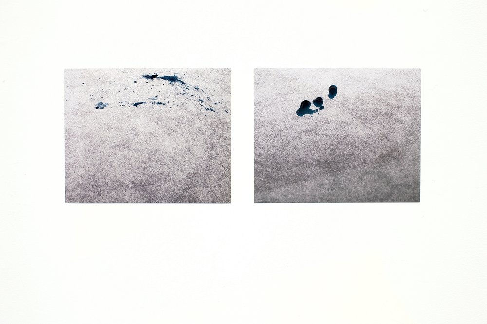 "I imagined it differently  two inkjet photographs, 8"" x 10"" each"
