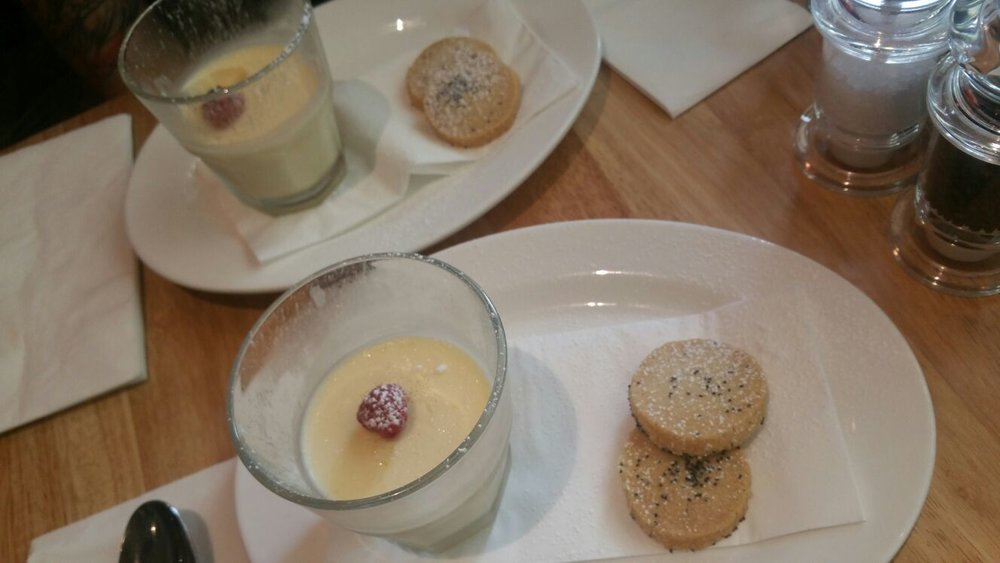 Lemon & poppy seed Posset with shortbread biscuit