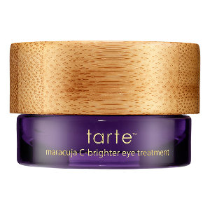 TARTE Maracuja C-Brighter Eye Treatment $38    I have been using this for a few months now and I have definitely noticed a difference in my under-eye area. I really like that when I put it on, it not only has an instant effect in calming down the tired eyes look, but it will also make a HUGE difference when I get up in the am/overnight. I have a common issue that many other women have: dark circles and this product is one of the few things that although it doesn't eliminate them completely, it DOES greatly improve the overall look and appearance of that area around my eyes :)