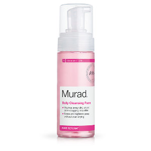 5. MURAD-  Daily Cleansing Foam $28   VERY easy to use with a pump dispenser, this is in my opinion, one of the best cleansers Murad makes- and they have a LOT with several lines in their cleansing products. Another thing that I really like about this cleanser in particular is the fantastic scent! Surprisingly, you do not have to use much of it to get a good foaming action going with about 2-3 pumps max so this one will also last you quite a while even if you use it every day! This cleaner is VERY good when it comes to fighting acne too!