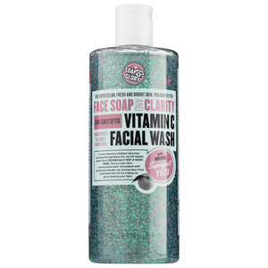 Soap & Glory-   Face Soap & Clarity Vitamin C Facial Wash $25   With over 2300 LOVES and 35 reviews with 5 out of 5 stars in ratings at julep.com, this product just might be the next cleanser I try! I'm always looking for new and exciting products and I really like the cute bottle in pairing with the ingredients! The formula includes: NO Parabens or Phthalates, and made with Vitamin C, superfruit yuza, and ultra-soft scrub-beads! I will be making this one the top on my list on seeing what it's about!