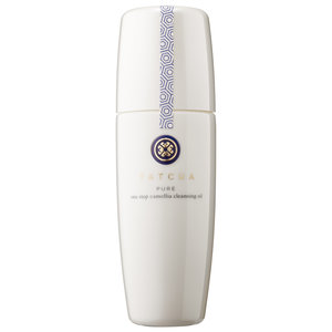 TATCHA -  Pure Step Camellia Cleansing Oil   I'm intrigued by the two-in-one proposal of this brand and although I've never tried anything from Tatcha, I've read a lot of good reviews and also noticed that the company, which is over 300 yrs.old- seems to take great care in the quality of their products and ingredients. Their packaging always seems to be beautiful too! The formula includes: NO Parabens, NO Sulfates, and NO Phthalates in addition to containing a unique ingredient called Hadasei-3 which is made up of a type of Okinawa algae and Japanese rice bran.