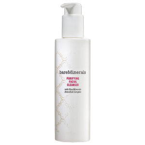 BARE MINERALS-  Purifying Facial Cleanser $20   I've tried a lot of their beauty products and would like to see how they in the realm of facial cleansers, moisturizers, etc. This is also formulated WITHOUT: Parabens, Sulfates, and Phthalates and DOES contain: Rare Minerals Active Soil Complex which supports turnover of new cells and a protection in the form of an antioxidant.