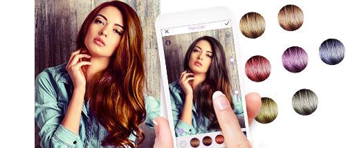 WANT TO TRY ON A NEW HAIR COLOR BEFORE MAKING THE COMMITMENT THE - Hairstyle color app