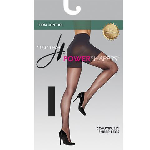 Hanes Power Shapers Sheer Hosiery in Black