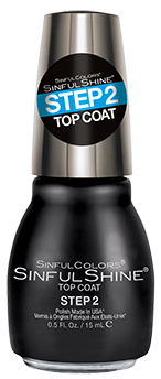 SinfulColors:  Step 2 Top Coat  Nail Polish