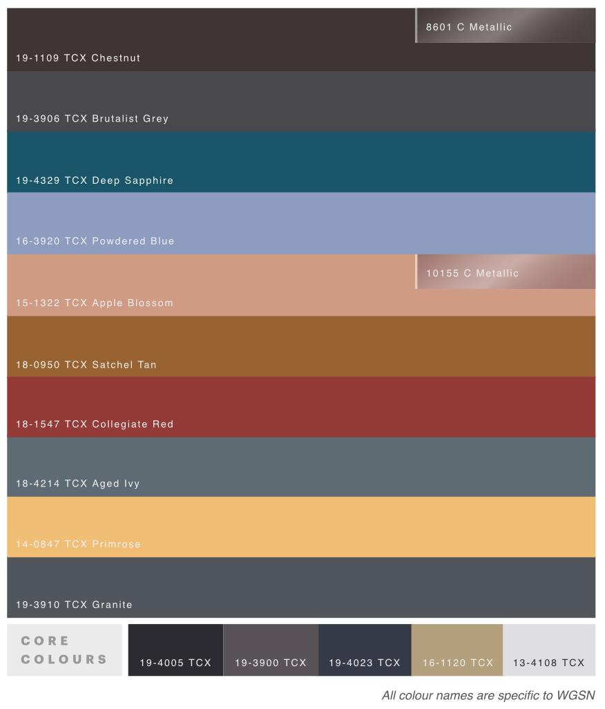 Winter 2018 Color Trend Forecast
