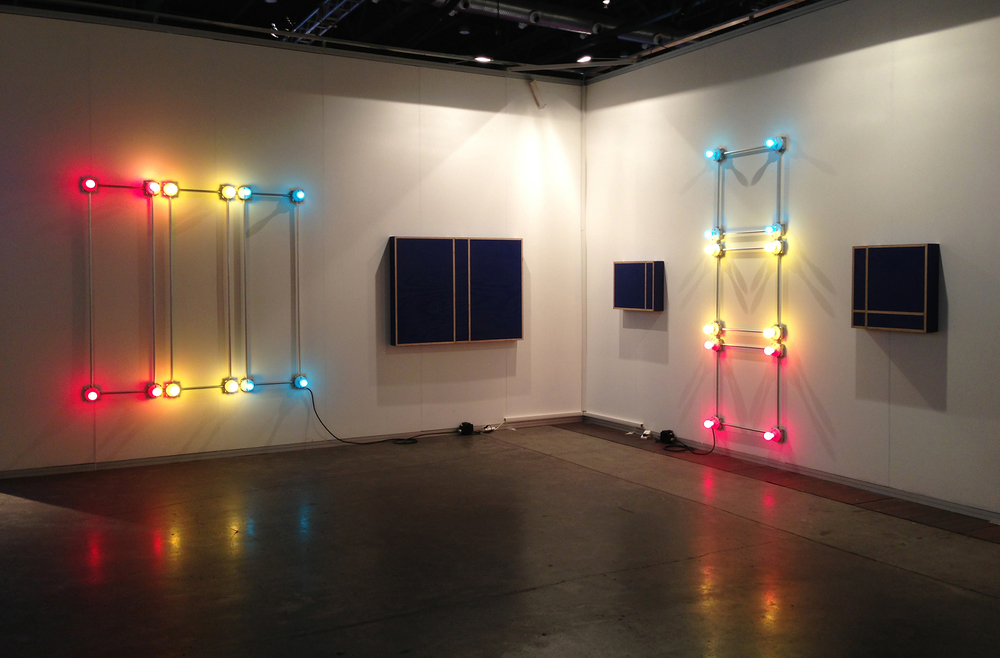 Installation view of Y Gallery booth at ArteBa 2013, Buenos Aires, Argentina.