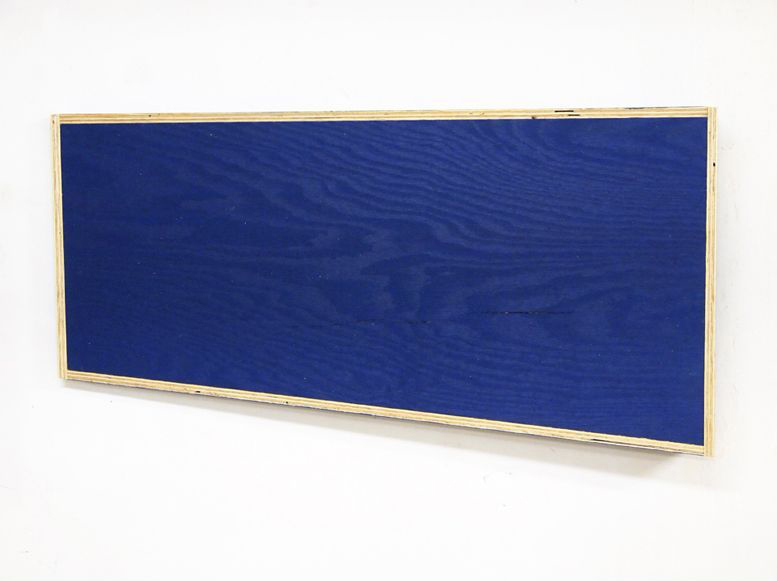 Transitional Geometry in Blue (Figure 11)  , 2012. Eggshell acrylic on plywood.