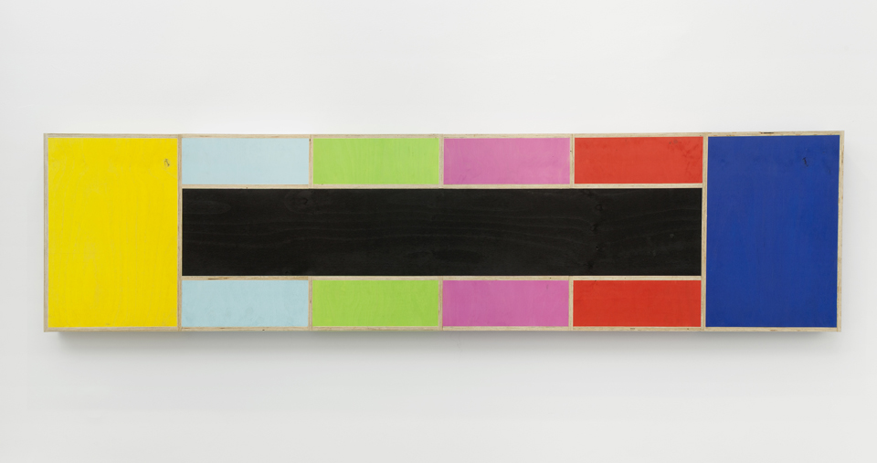 Test Pattern (Figure 5),  2015. Eggshell acrylic on plywood. 128 3/4 x 4 x 32 1/4 inches