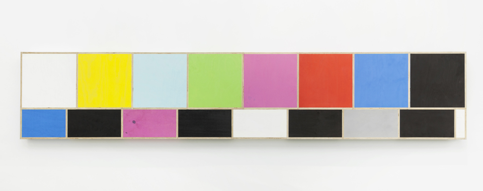 Test Pattern (Figure 3) , 2015. Eggshell acrylic on plywood. 174 1/2 x 4 x 33 1/2 inches