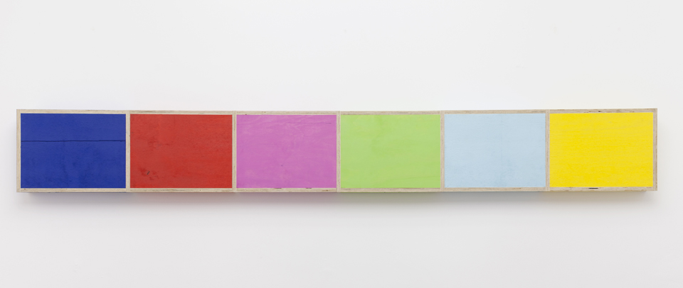 Test Pattern (Figure 6), 2015. Eggshell acrylic on plywood. 111 1/2 x 4 x 14 inches