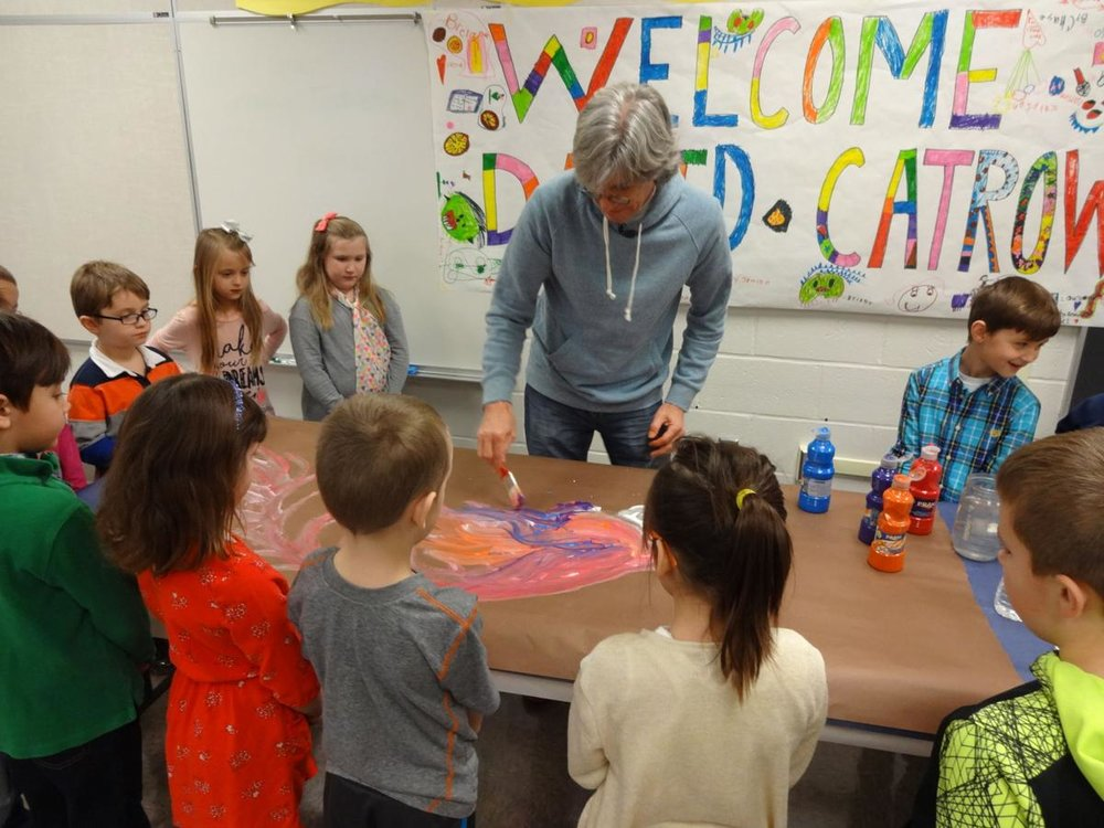 Working with Nacy Grayson Students. Photo via: The Shippensburg News-Chronicle