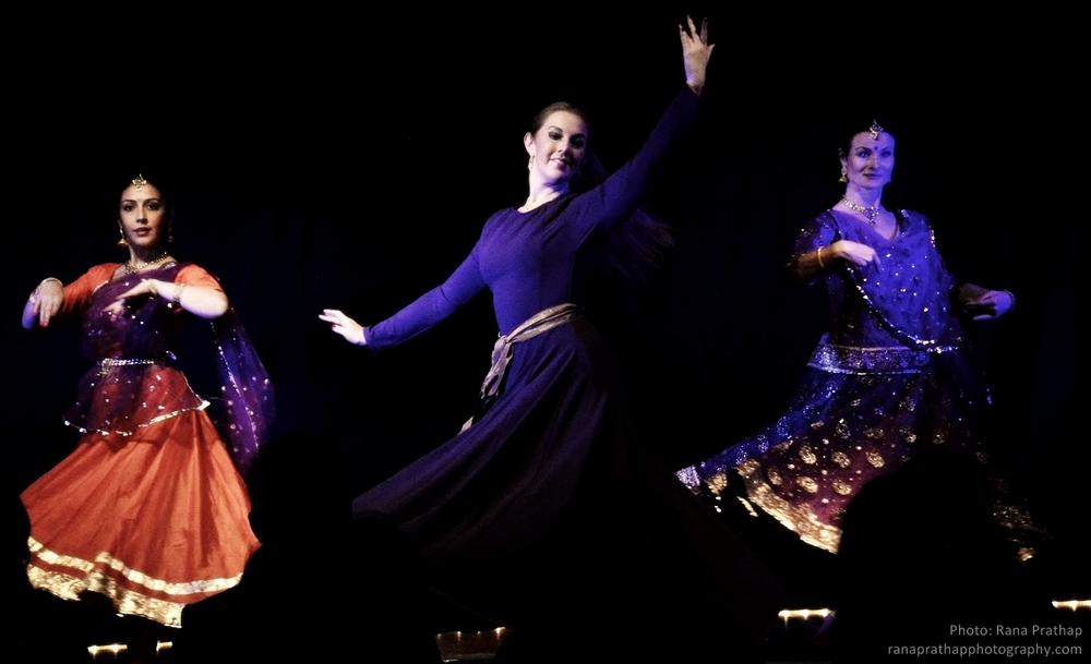 Maria Oriental - Persian Dance in a fusion together with Nritya Darpan at Jugal Bandhi Show. Stockholm, December 2014. Photo: Rana Prathap.