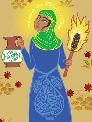 Rabia al-Adawiyya. Bildkälla: www.greatthoughtstreasury.com/