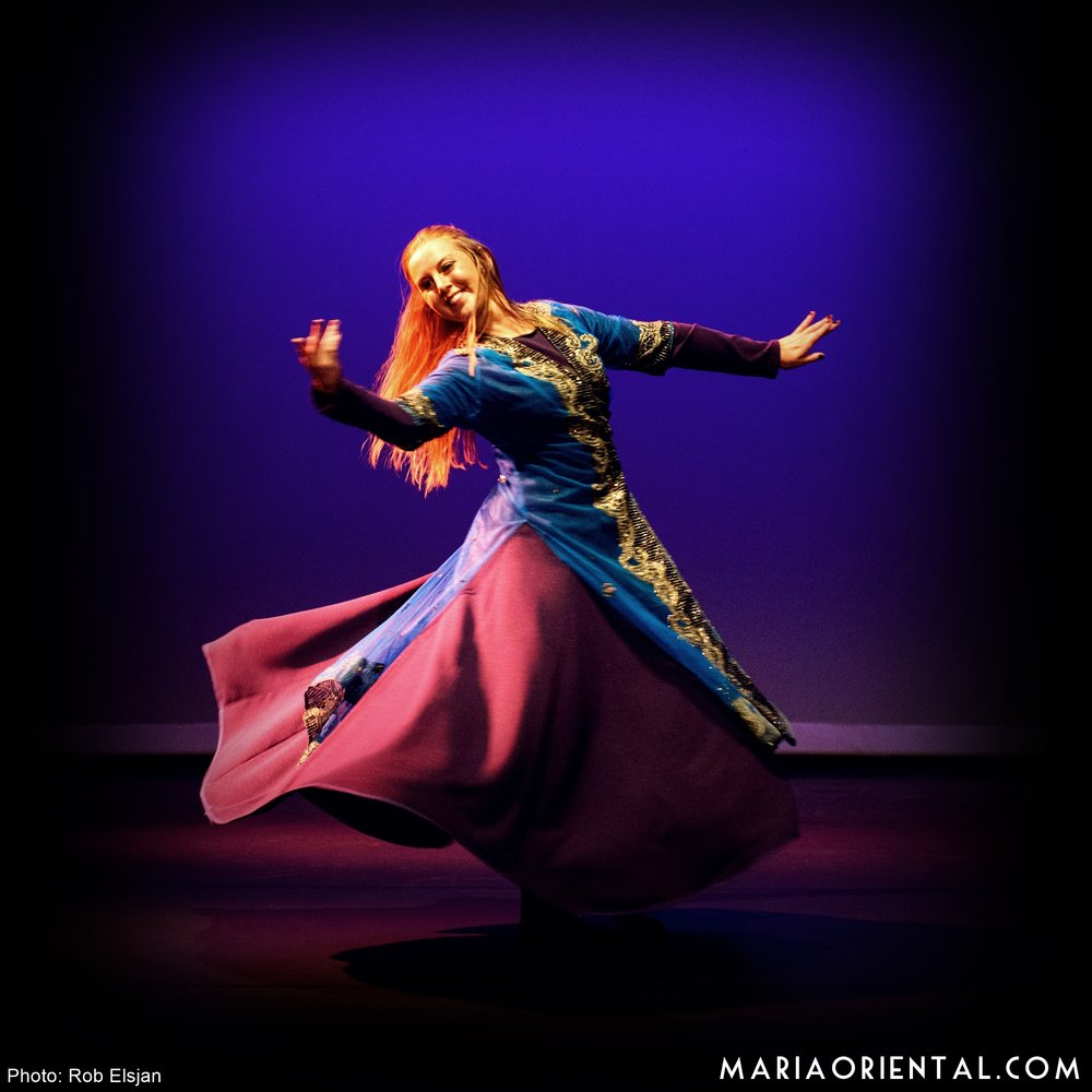 Maria Oriental - Persian Dance at 1001 Moves in Enschede, Holland. June 2016.  Photo: Rob Elsjan