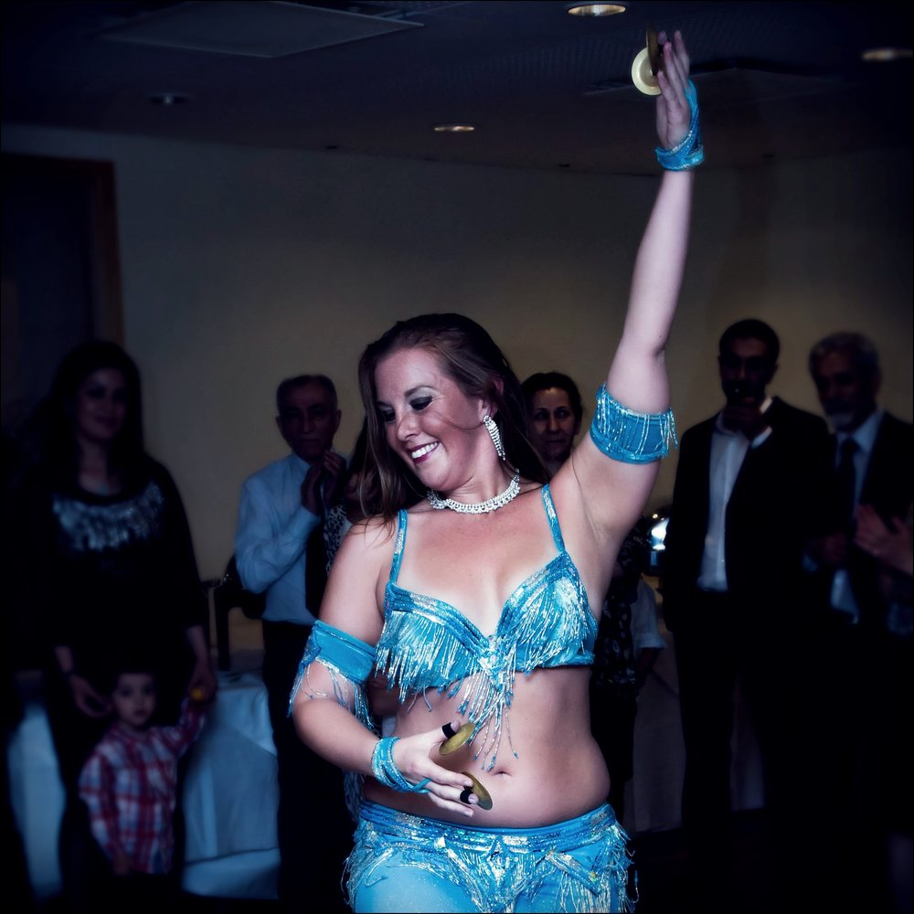 Maria Oriental - Belly Dance with zills at private party. Stockholm, August 2016.