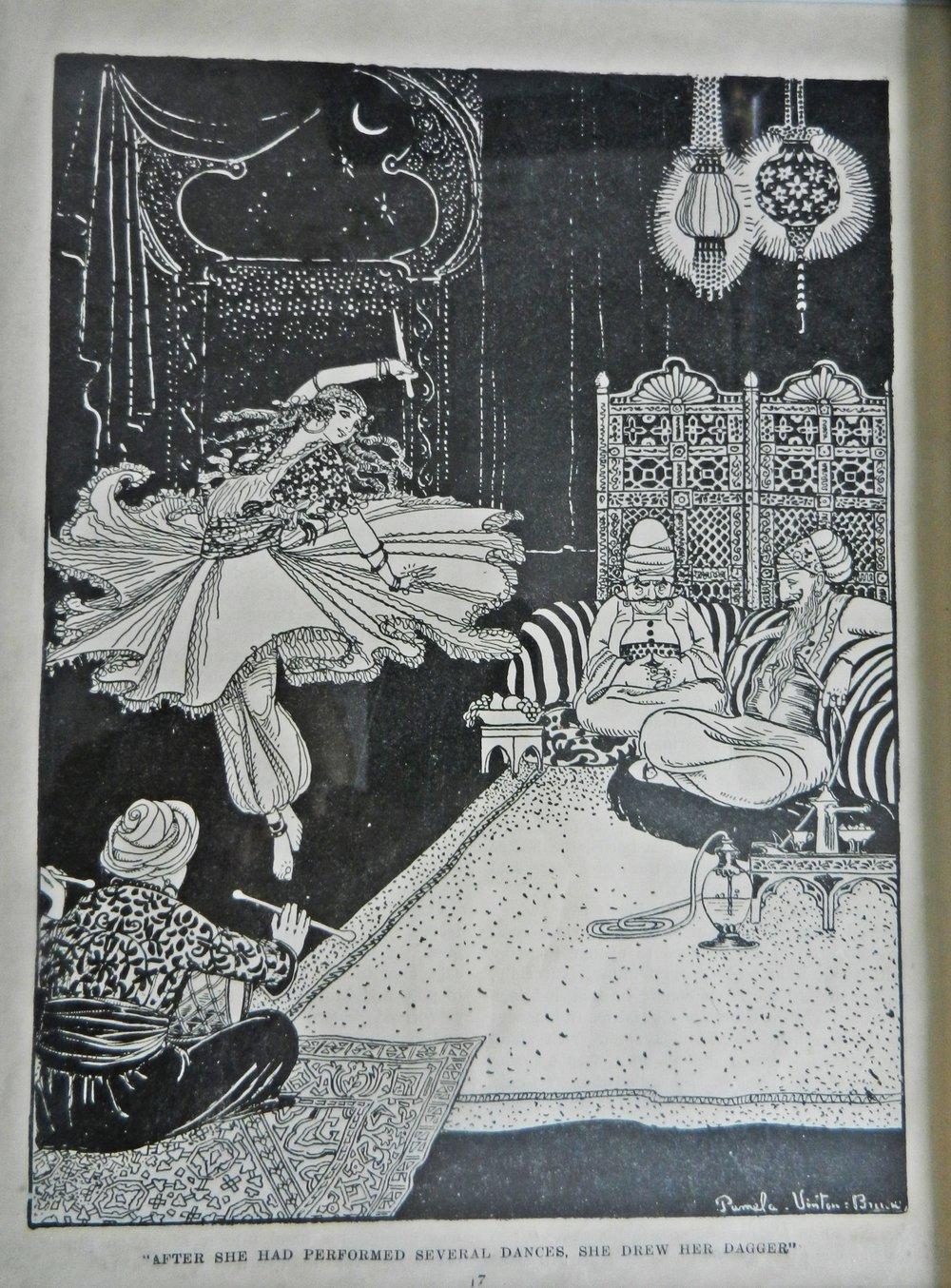 En av mina favoritbilder av Morgiana från en upplaga av  Arabian Nights .
