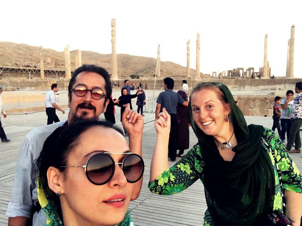 Utanför Persepolis.