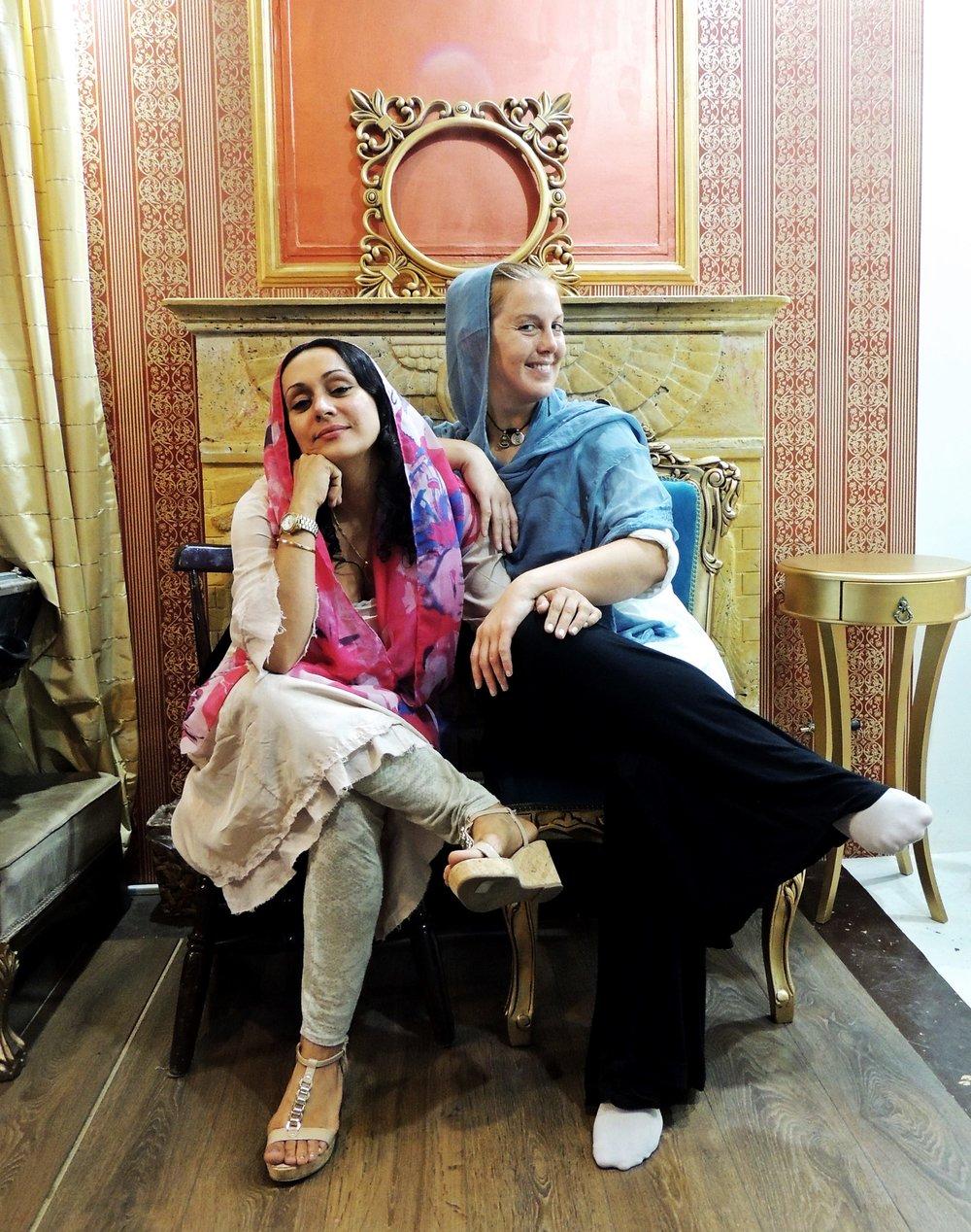 Tillsammans med Helia i Teheran.