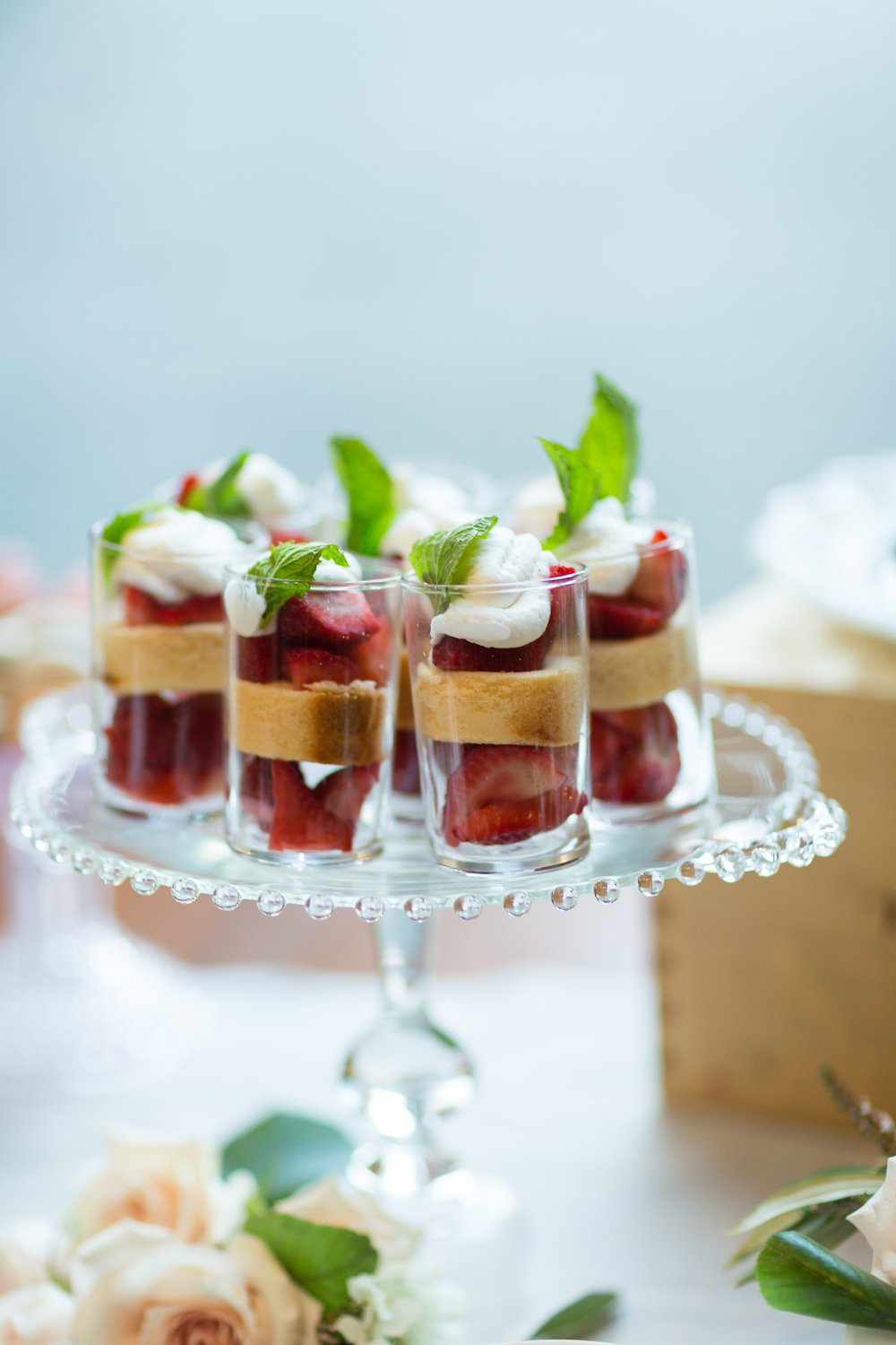 Strawberry Shortcake dessert by Farm to Table Catering