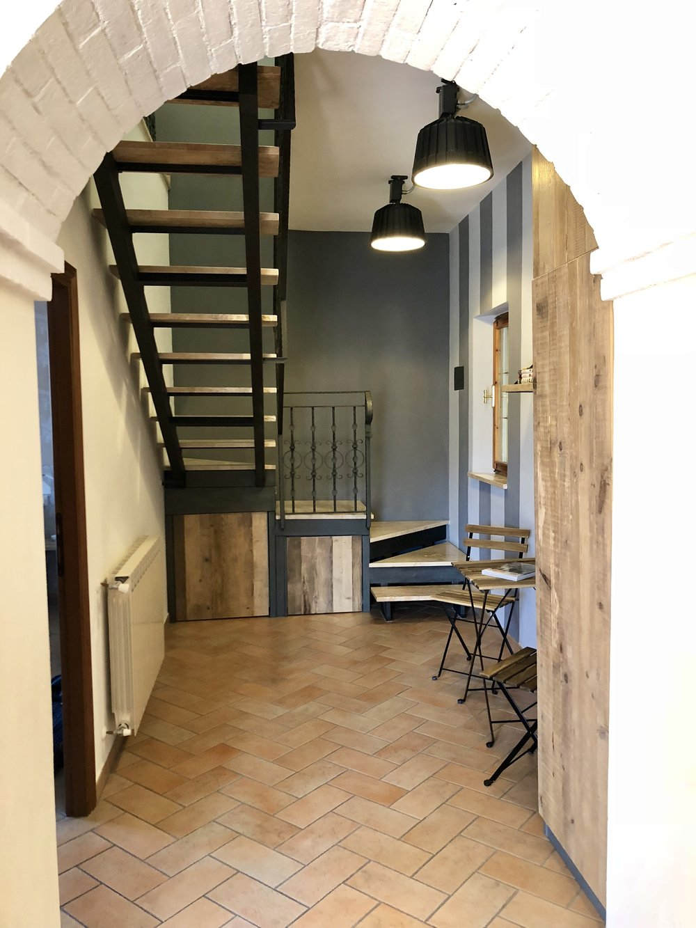 Hallway leads upstairs