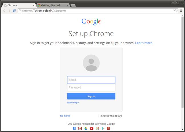 Set Up Chrome