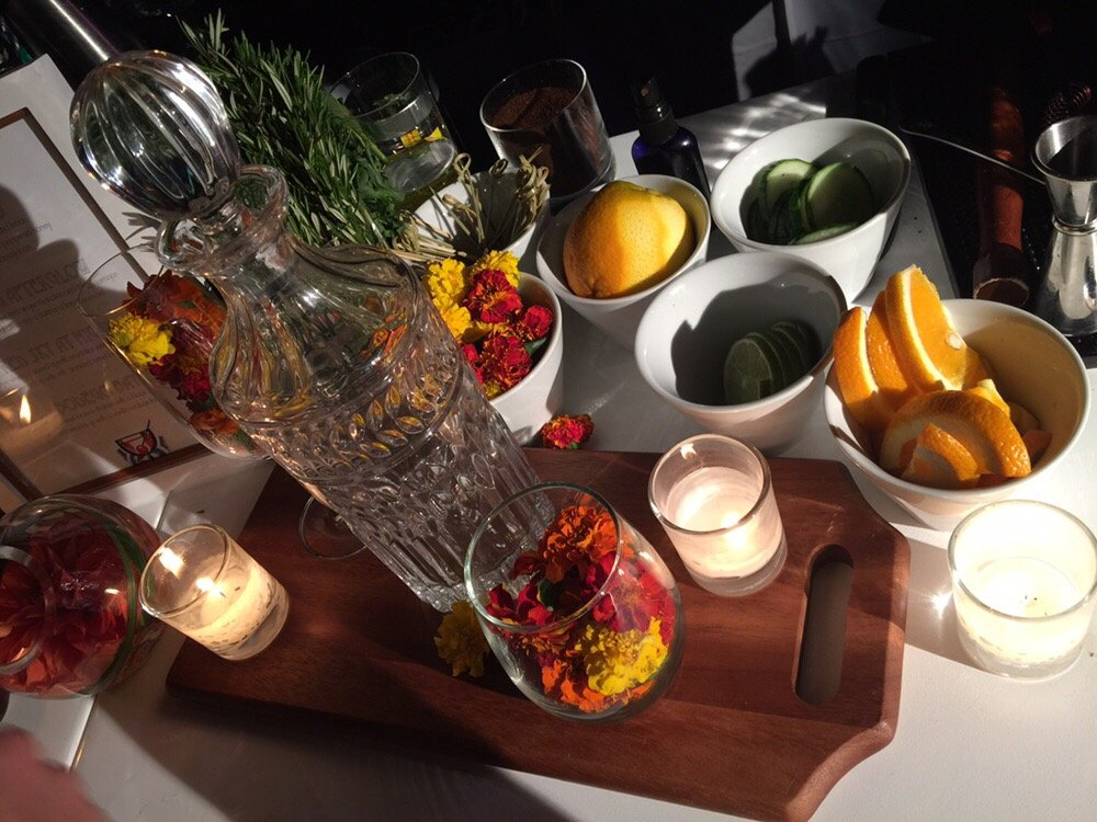 Fresh Fruit Garnishes and Bar Decor