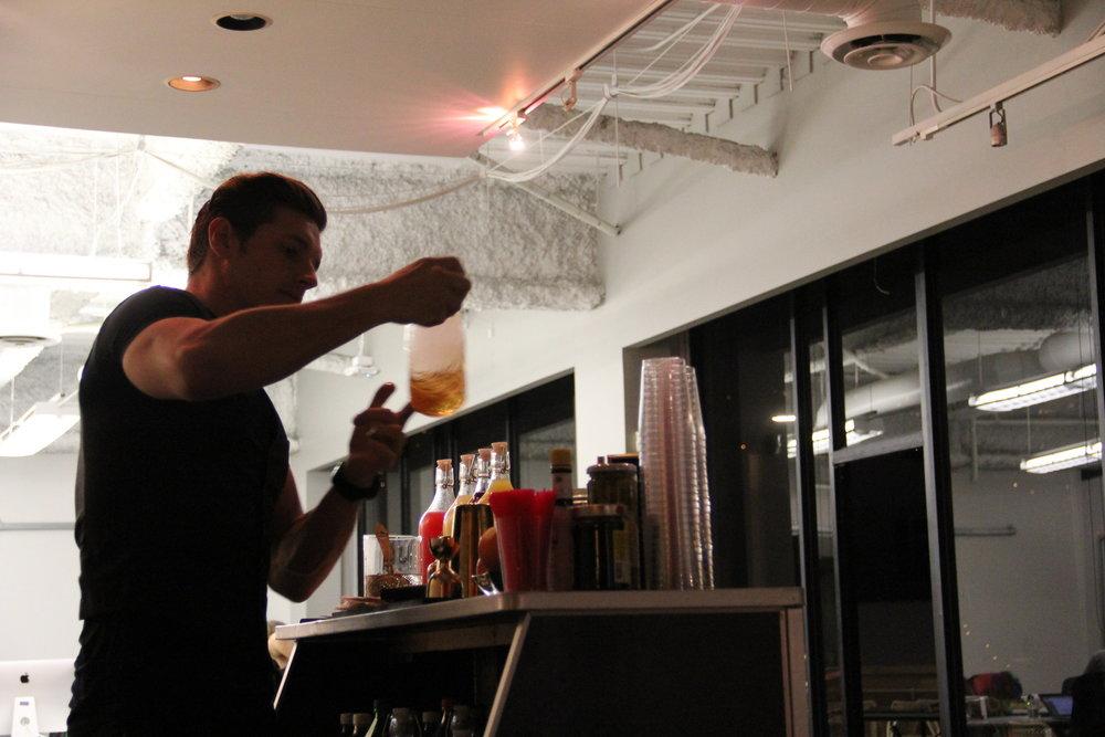 Professional Bartender - smoke infusing