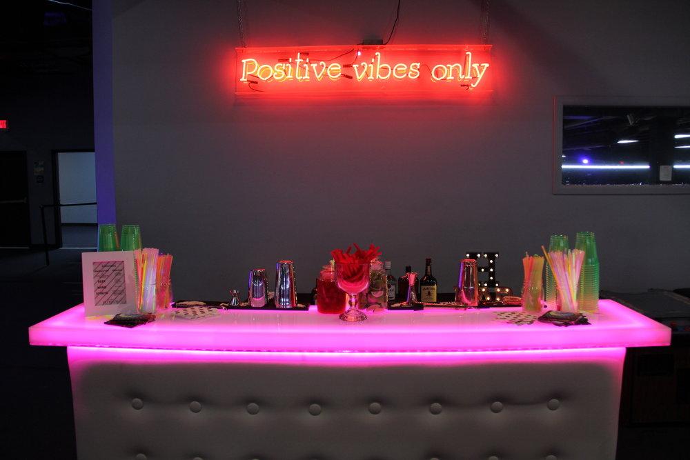 Glowing bar by Platinum Bartenders