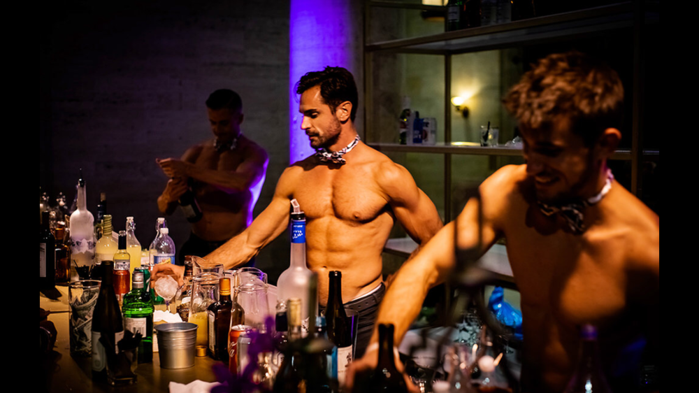 Our shirtless bartenders are a hit in every event!