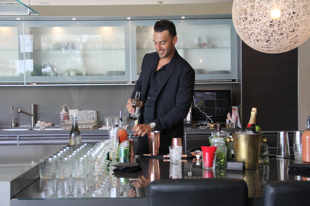 Our bartenders love what they do! Sharif in action!