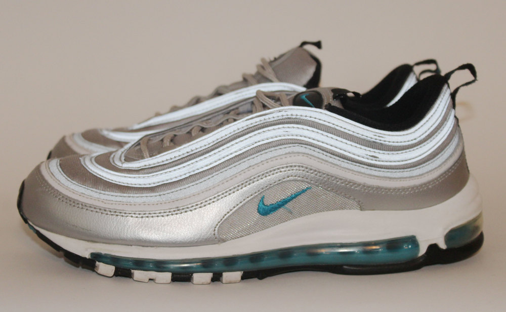 nike air max 97 silver and blue