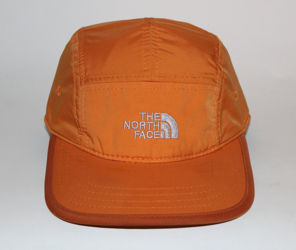 Vintage The North Face Orange 5 Panel Pull String Hat — Roots d597afb49a5