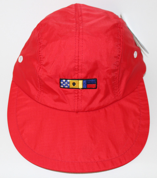 Vintage Nike Red Flag Pull String 4 Panel Waterproof Long Brim NWT ... bd50c19cb0d