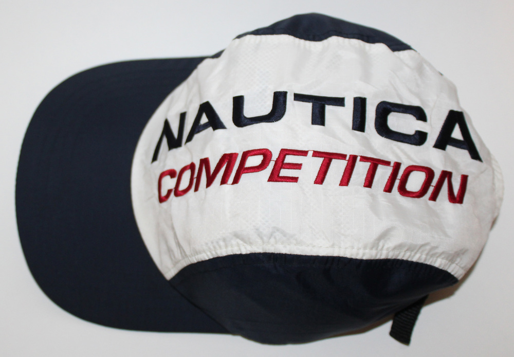 fdf6ee2e1659f Vintage Nautica Competition Spell Out Nylon Panel Hat — Roots