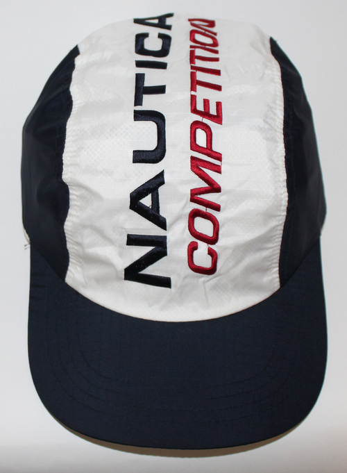 81b9ce7f962ca Vintage Nautica Competition Spell Out Nylon Panel Hat. nautica comp .jpg