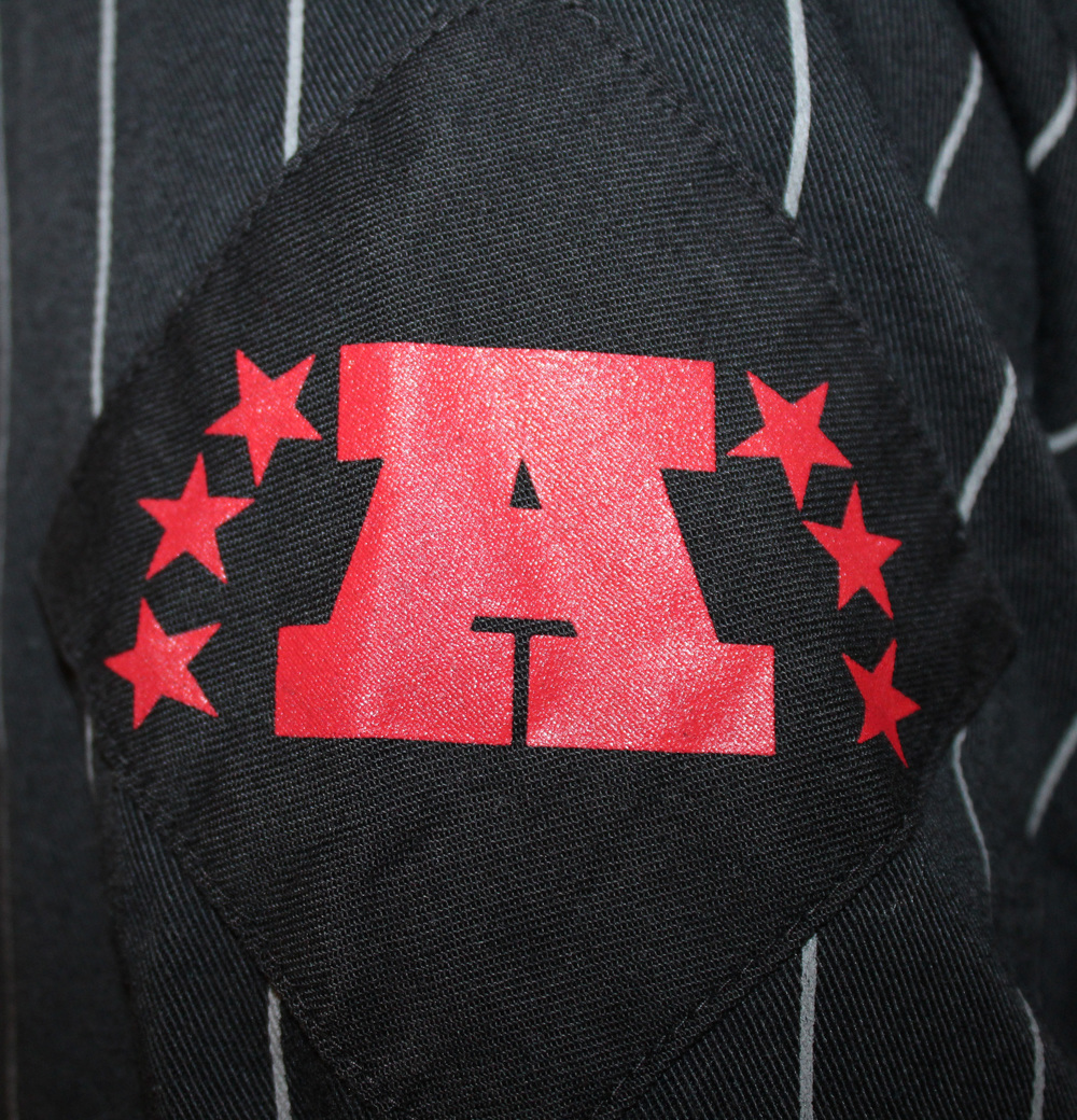 16f1dc71007 ... promo code for vintage starter los angeles raiders pinstripe jersey  size l. raiders . raiders