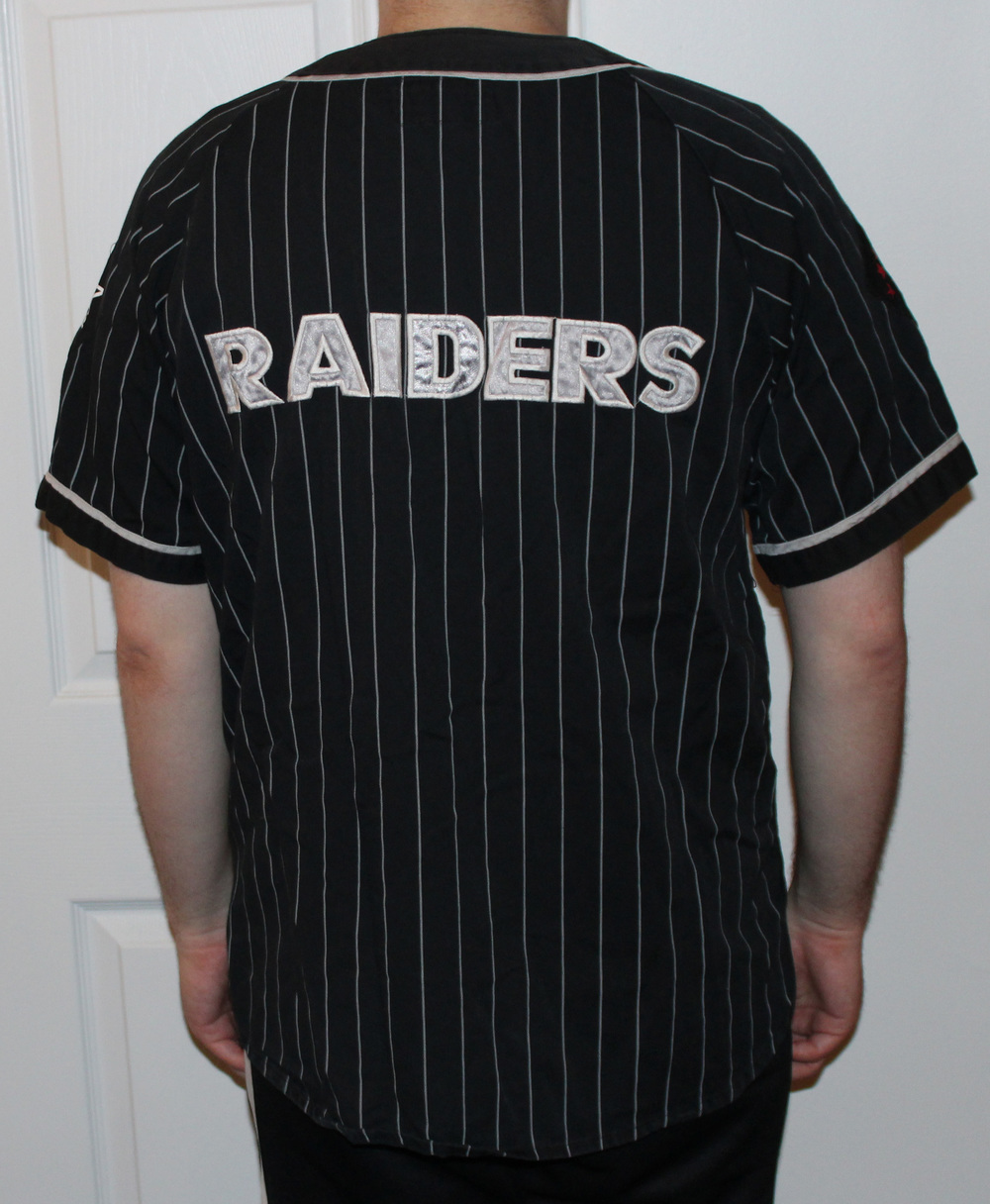 5d88d25638a ... buy vintage starter los angeles raiders pinstripe jersey size l. raiders  . raiders 2.