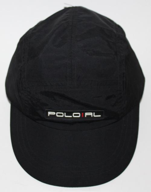 Vintage Polo Ralph Lauren Black Nylon 5 Panel Hat NWT — Roots 70bc7669567