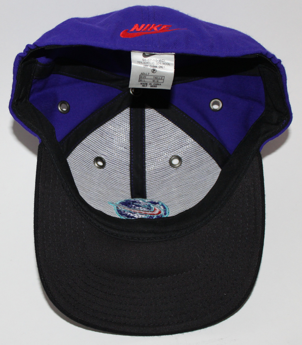 19b5999e753ad Vintage Nike Basketball Purple Fitted Hat (Size M L) — Roots