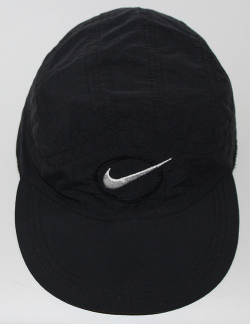 Vintage Nike 6 Panel Running Black Hat — Roots 0eb94a85059